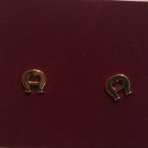 Etienne Aigner Jewelry - Etienne Aigner Gold Tone Post and Screw Earrings